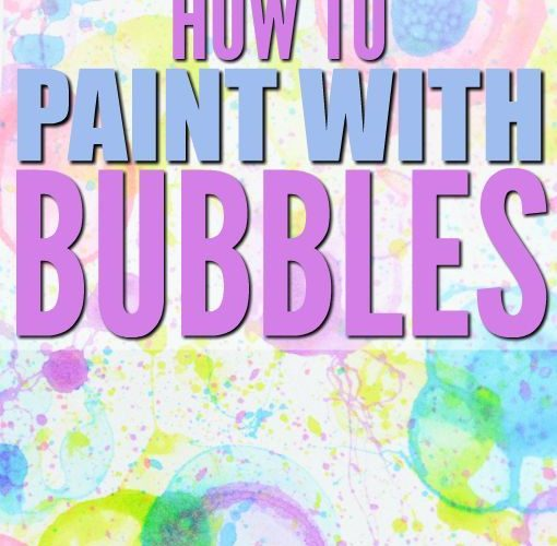 Tired of blowing bubbles? Here's how to paint with bubbles – a fun, easy activ…