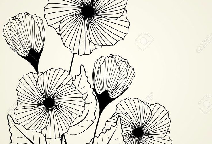 Silhouette Of Garden Flowers In The Background Royalty Free Cliparts, Vectors, A…