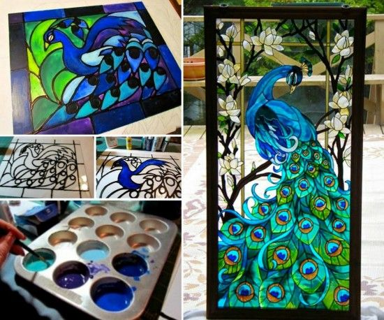 Step-by step, EASY(!)  how-to make Faux Stained Glass art tutorial.