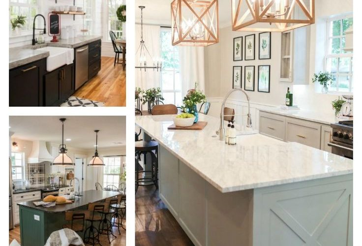 The Best Fixer Upper Kitchens. Beautiful farmhouse style kitchen all done by Joa…