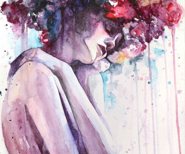 """crossconnectmag: """" Watercolors by Cora-Tiana  """"We are Cora and Tiana, artist…"""