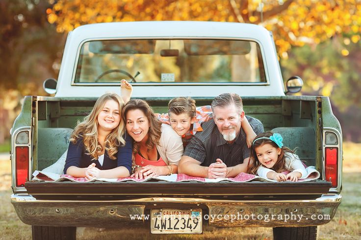 family pictures with old truck – Might have to do this with Jacobs truck in a co…
