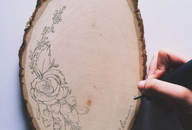 Grab a piece of wood like this from a craft store, a pen, and stencil. Easy way …