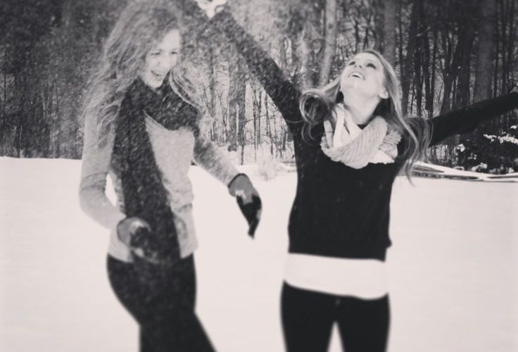 Knowing me and my bestfriend, we'd turn this into a snow ball fight….