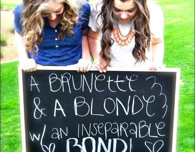More like  A Ranga and a Blonde are the perfect Bond!! Laura Doyle              …