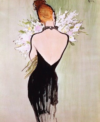 Rene Gruau's Iconic Dior Illustrations on Display at Somerset House in London