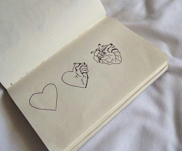 Could be a cool tattoo but the last heart with lots of flowers around it