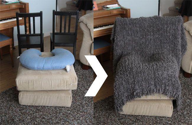 DIY Instant newborn photo studio setup – found on www.itsalwaysautu…