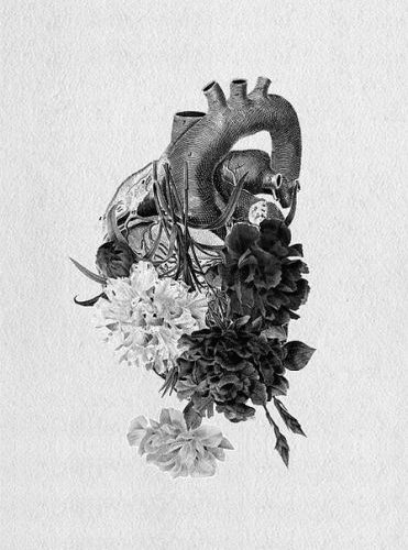 Love this, it keeps the anatomical heart shape but makes it pretty with flowers….