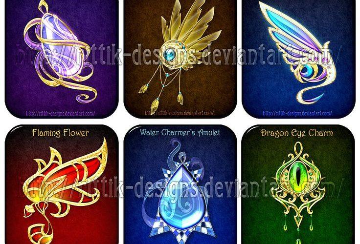 Magic items set (6) by Rittik-Designs on deviantART