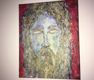American Pop Artist Yuly7-CHRIST the SUPERNATURAL-ORIG SIGNED POP ART PAINTING