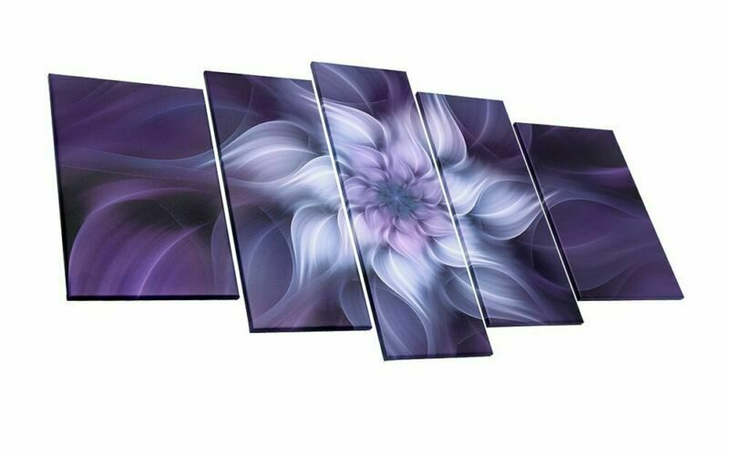 Purple Flower Plant Botany Picture Artwork For Home Decoration Living Room