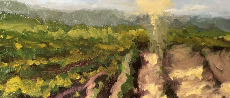 DAVID WESLEY POE impressionist original landscape OIL PAINTING signed