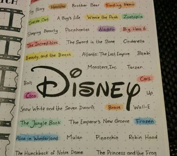 26 Enchanting Disney Bullet Journal Spreads and Ideas to Spark Your Imagination …