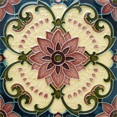 Charming Deco Artistic Back Splash Tile
