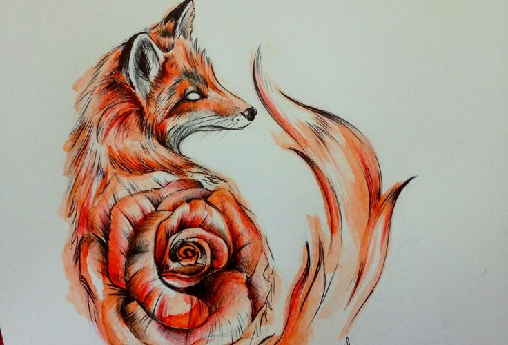 I'm not crazy about the rose in the body, but I love the style of the fox an…