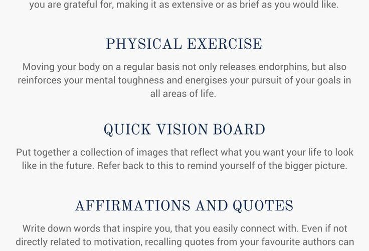Ten exercises to boost your motivation, get out of a slump and energise your wor…