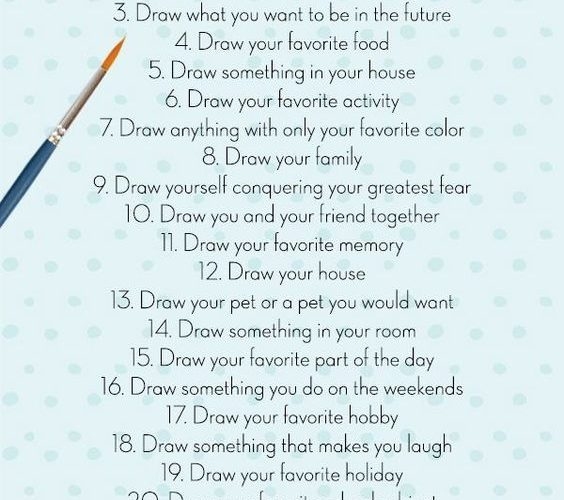The Best 30 Day Drawing Challenge, The ultimate creative challenge, 30 days of a…