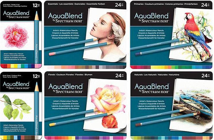 Spectrum Noir AquaBlend Watercolor Pencils, sets of Artist Quality Pencils