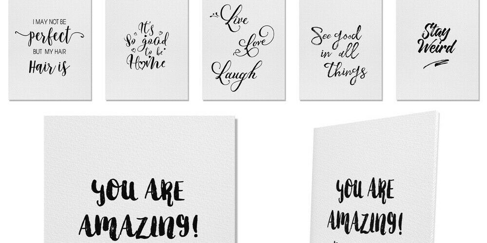 Quotes Design Artwork Wall Decor Poster for Home Office Living Room 8×10 inch