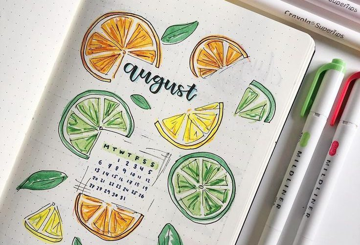 My title page for August! I am actually loving this citrus theme so much it just…