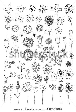 simple turned flower drawing – Google Search