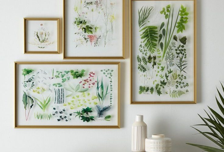 13 Ways to Decorate with Unconventional Art. Pressed flowers hack. At first, we …