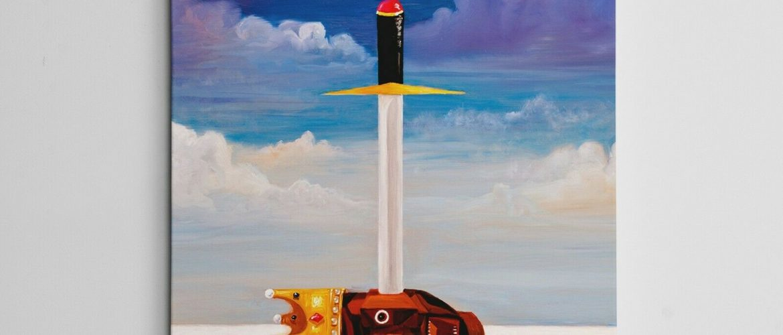 "16×20″ Gallery Art Canvas- Kanye West My Beautiful Dark Twisted Fantasy ""Power"""