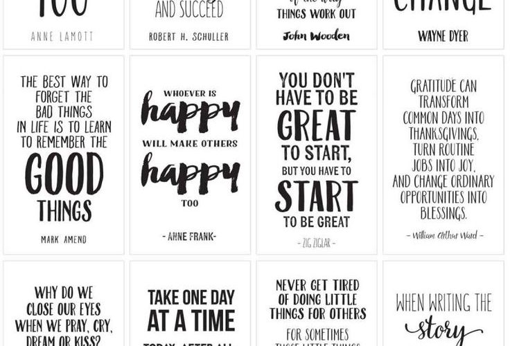 Amazing Life Quotes For Inspiration! {FREE PRINTABLE CARDS}