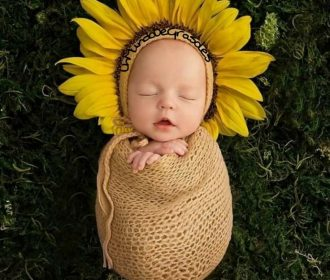 New Ideas For New Born Baby Photography : Sunflower for my future child