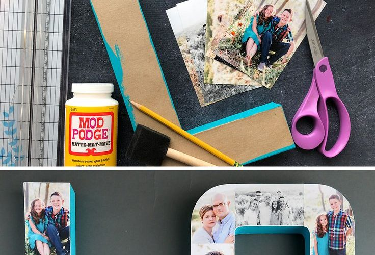 Pretty photo letters! How to create a photo collage on paper mache letters for a…