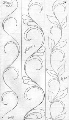 Basic swirl pattern with variations – wood make a nice wood burning pattern ;):