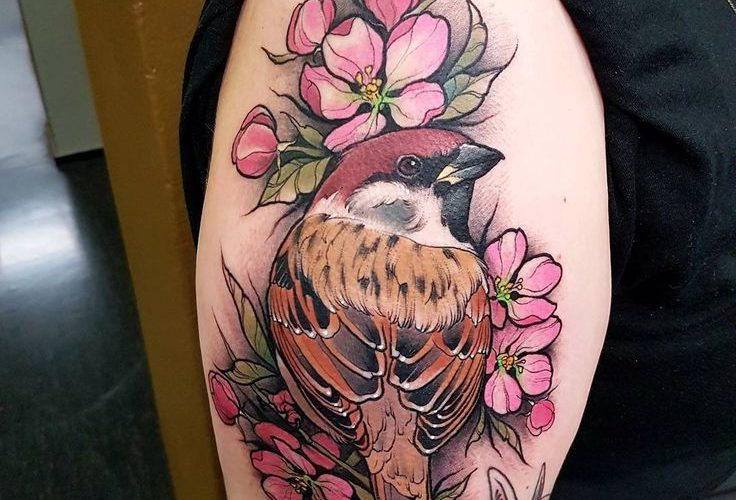 Sparrow today at @helsinktattoo Couple spots available next week in Finland,Hels…