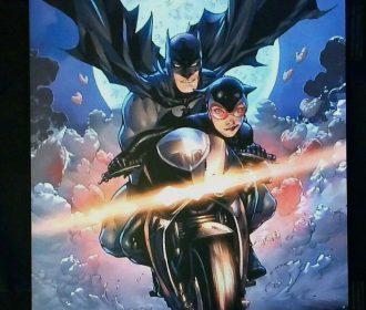 BATMAN & CATWOMAN ART PRINT SDCC 2019 ~ SIGNED TONY DANIEL  11″x17″