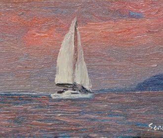 Sean Wu original oil painting 5×7 on canvas panel