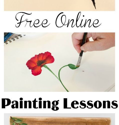 Free online painting lessons. Come join in the fun and learn to paint flowers, b…