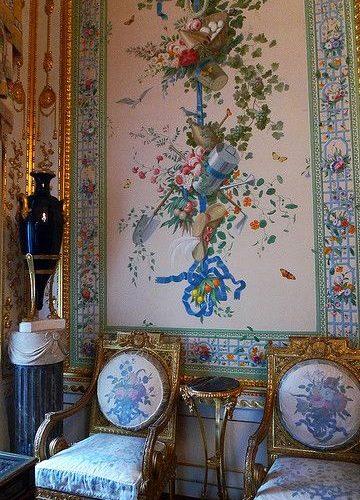Wallpaper Panels. Pavlovsk palace, Saint Petersburg, Russia
