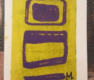 ACEO BRUT ART OUTSIDER ABSTRACT MODERN WATERCOLOR by BIPOLAR ARTIST MARCI D.