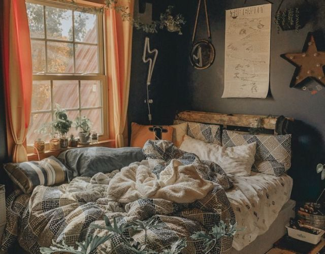#artsy #room #plants – A mix of mid-century modern, bohemian, and industrial int…