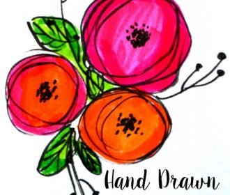 Embellish your lettering with these simple, hand drawn flowers!