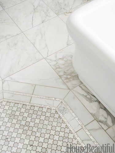House Beautiful November 2013 – Mother-of-pearl liner tile frames the Arpell Bia…