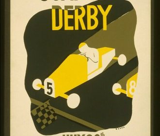 US Seller- art poster for sale Du Page County soap box derby WPA artwork poster