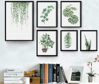 Plant Artwork Canvas Print Wall Art for Room Modern Home Wall Decoration BMKY 02