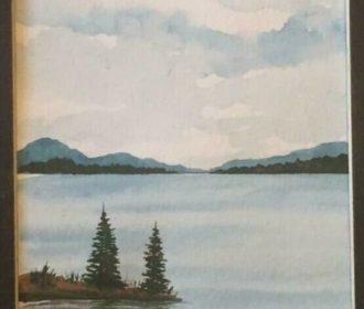 Original watercolor painting 5″ x 7″  landscape