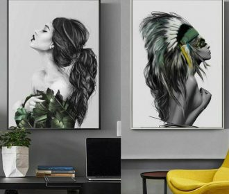 Canvas painting women wall pictures for living room wall art Posters Home Decor