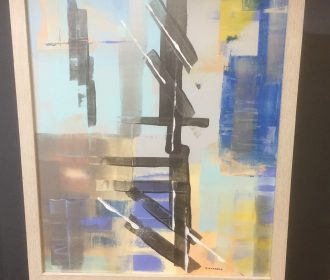 """Original Artwork Abstract Acrylic Painting On Wood 16""""x20""""  Signed"""