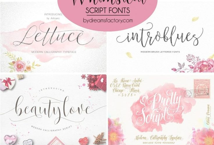 Beautifully handcrafted script fonts with glyphs, swashes and other artistic ele…