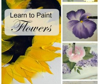 How to paint flowers one stroke at a time, easy enough for beginners and fun for…