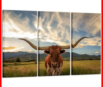 LARGE Modern Canvas Wall Art For Home & Office Decoration Animal Pi Multi Color