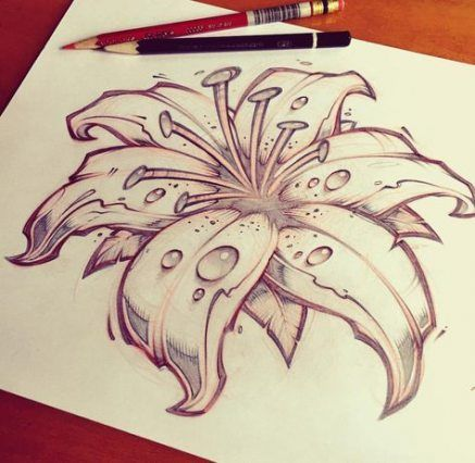 30+ Trendy ideas for flowers sketch pencil tattoos